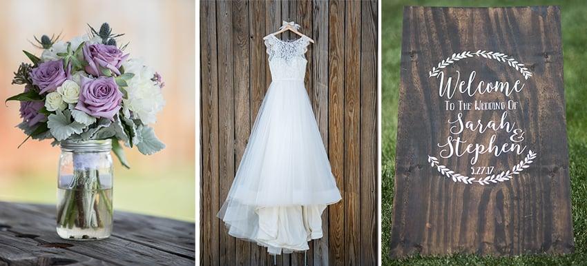 Sarah stephen 39 s wedding at starlight meadow in for Wedding dresses burlington nc