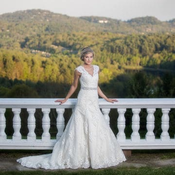 bride portraits moses cone blowing rock