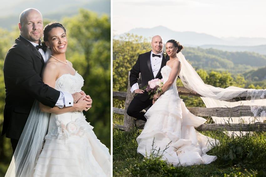 Wedding portrait blue ridge parkway