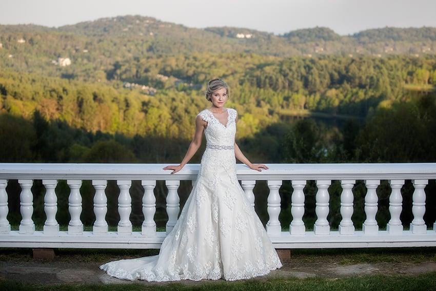 bride portraits moses cone blowing rock
