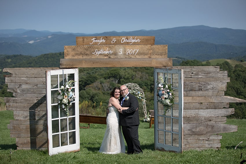 Banner Elk Winery wedding