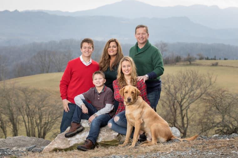 Family portraits on Beech Mountain