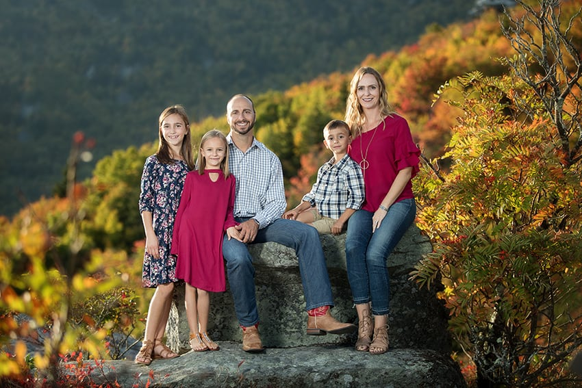 Blowing Rock family portraits