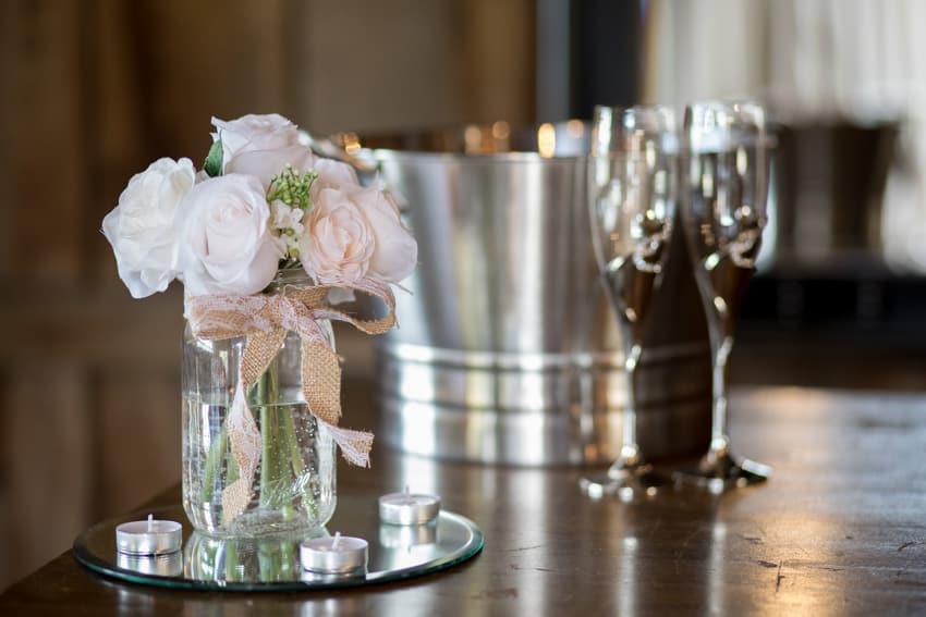 Reception decor elopement Banner Elk Winery