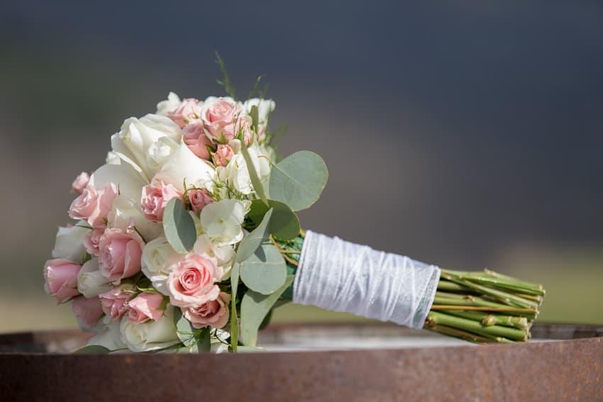 Bridal bouquet elopement Banner Elk Winery