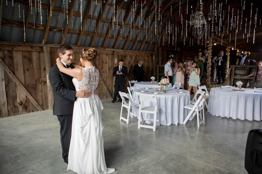 Banner Elk Winery elopement first dance