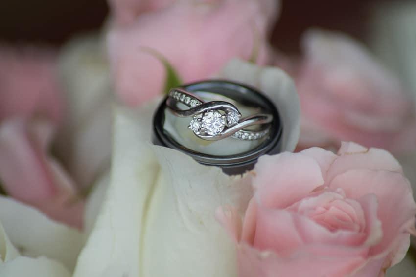 Wedding rings banner elk elopement