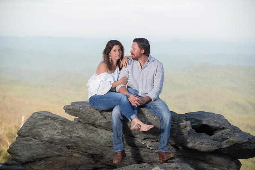 blowing rock engagement session