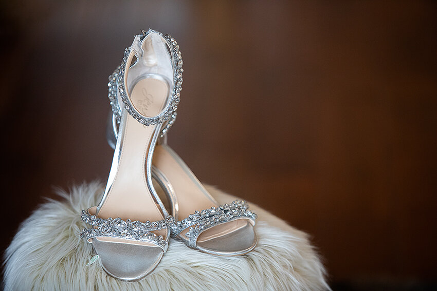Bridal shoes wedding Eagles Nest Banner Elk