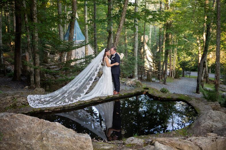 Bride and Groom Eagles Nest wedding Banner Elk NC