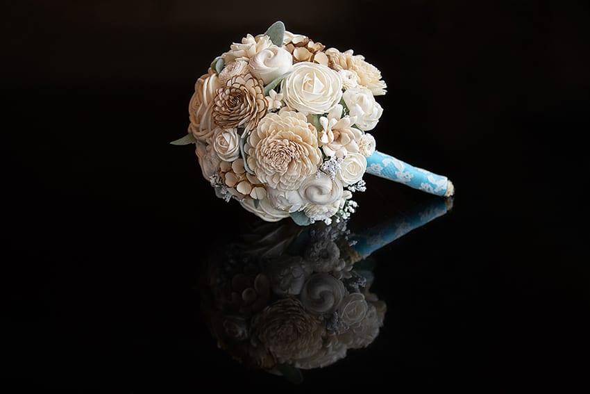 Wood bridal bouquet Commerce Club Greenville SC