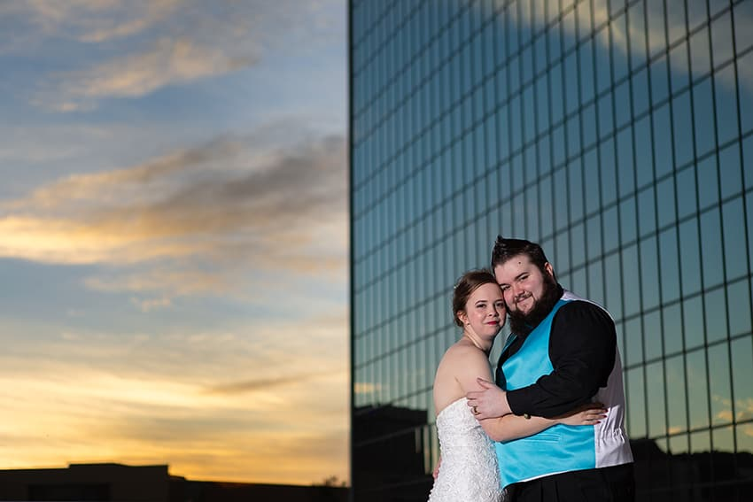 Bride and groom Commerce Club Greenville SC