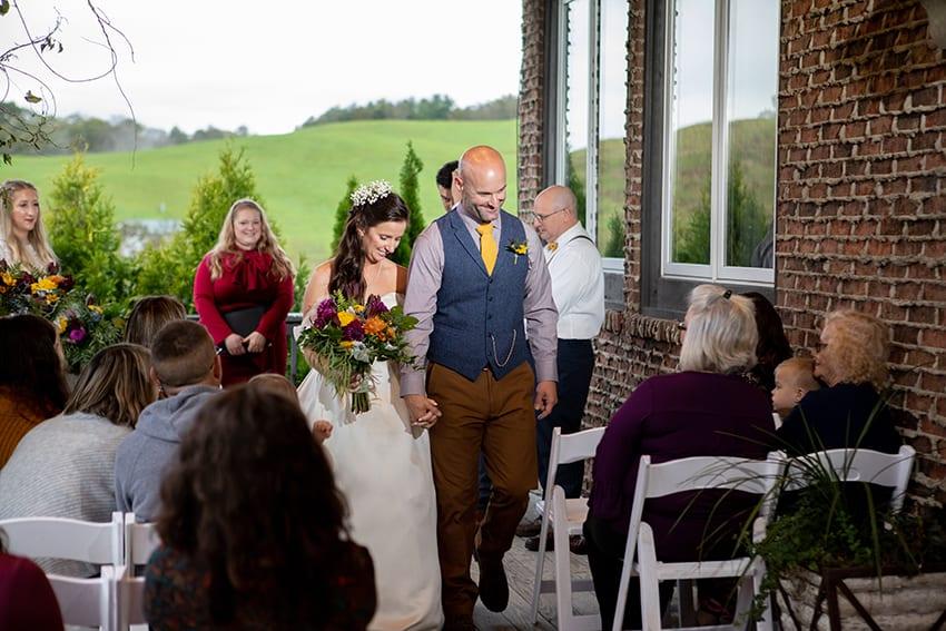 wedding at banner elk winery villa