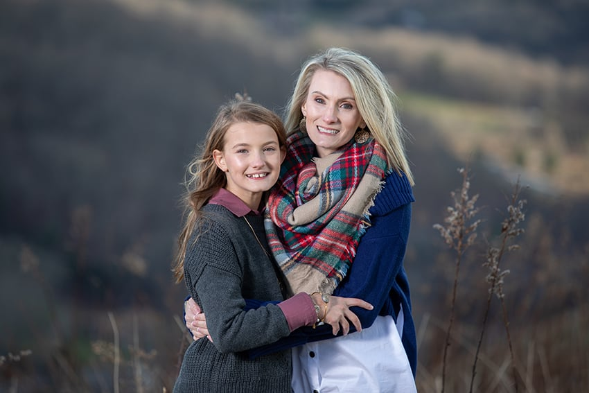 Mother and daughter Family Portraits in Banner Elk NC