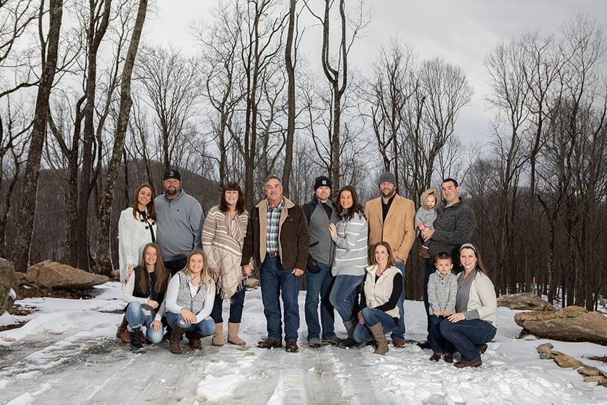 Family portraits in Eagles Nest in Banner Elk