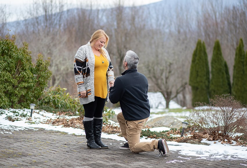 Surprise proposal at the Inn at Crestwood in Boone NC