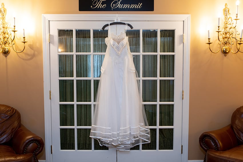 bridal gown at Meadowbrook Inn