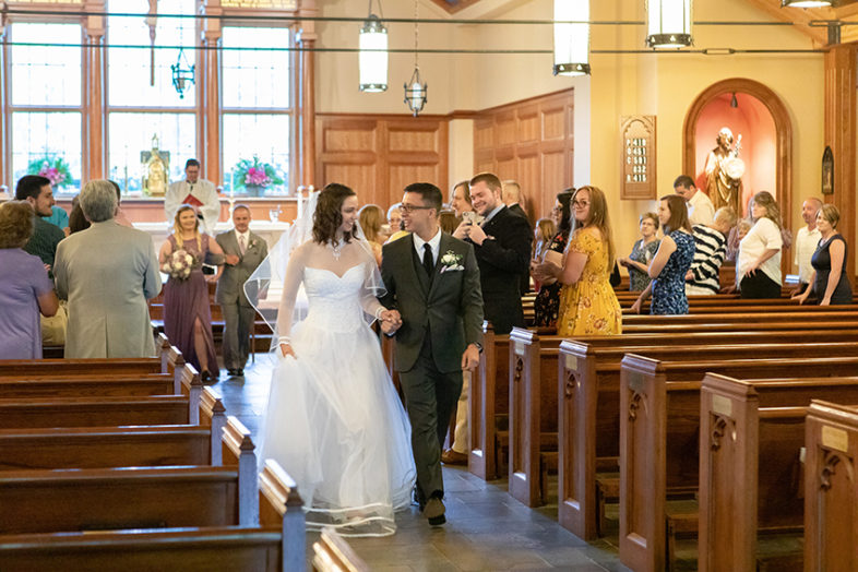 Wedding at St. Bernadette Catholic Church in Linville NC