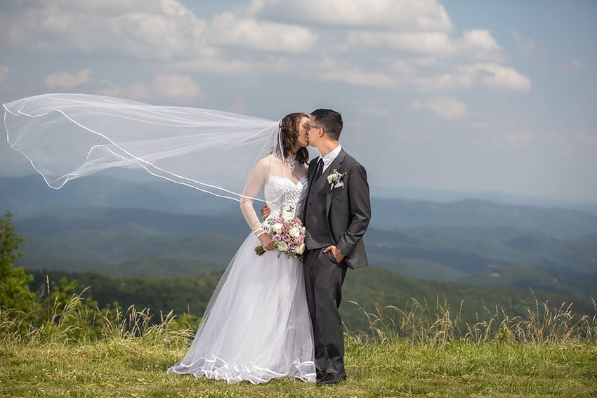 Newlyweds Blue Ridge Parkway Portraits