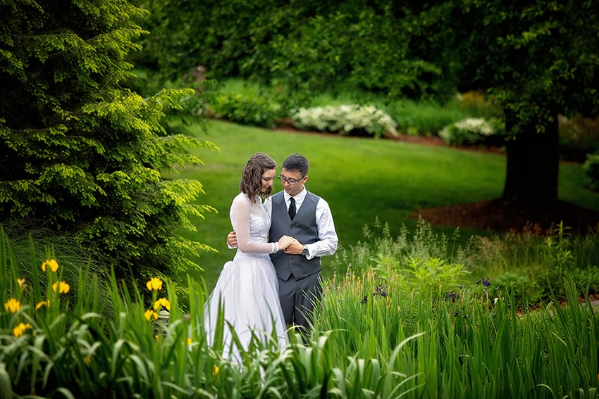 Bride and groom portraits at Meadowbrook Inn in Blowing Rock NC