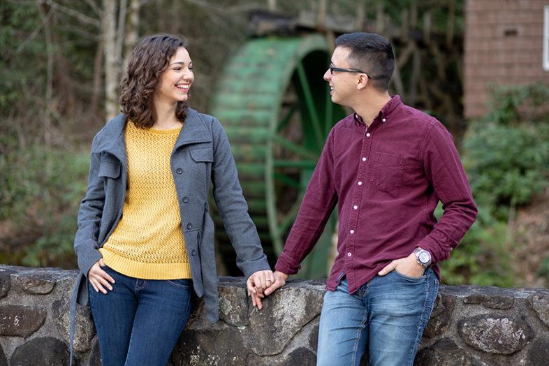 Engagement portrait of couple on Roan Mountain