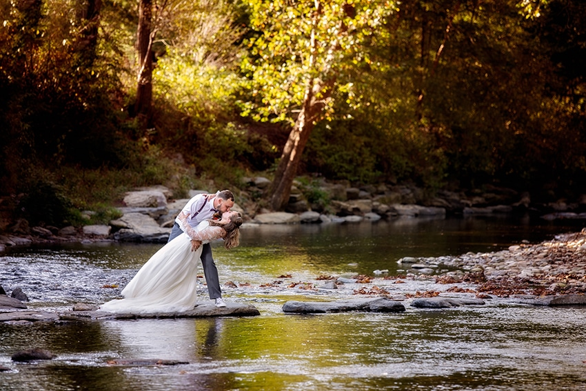 Valle Crucis intimate wedding North Carolina