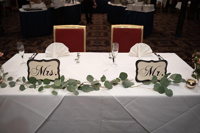 savannah riverboat cruise wedding bride and groom table