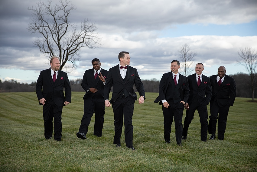 Groom and groomsment Gambill Estate wedding
