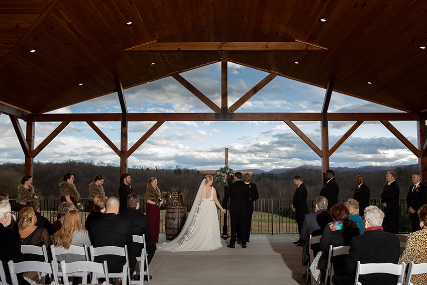 Wedding ceremony at Gambill Estate