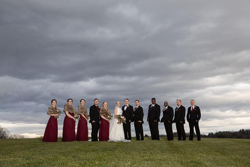 Wedding party portrait at Gambill Estate