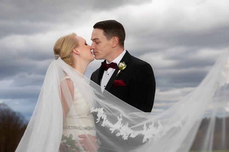 Bride and groom portrait Gambill Estate wedding photographer