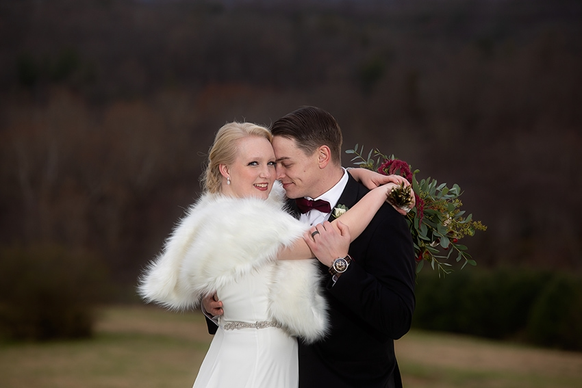 Bride and groom portrait Gambill Estate wedding photographer