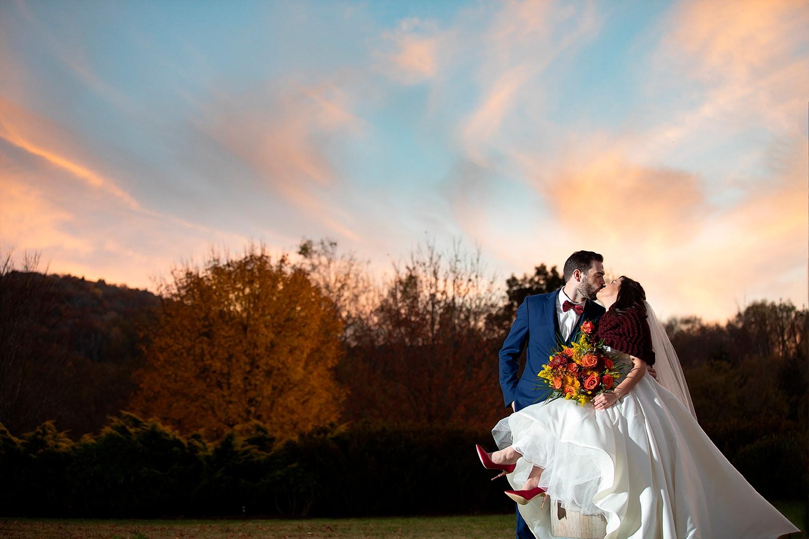 banner elk winery elopement intimate wedding sunset