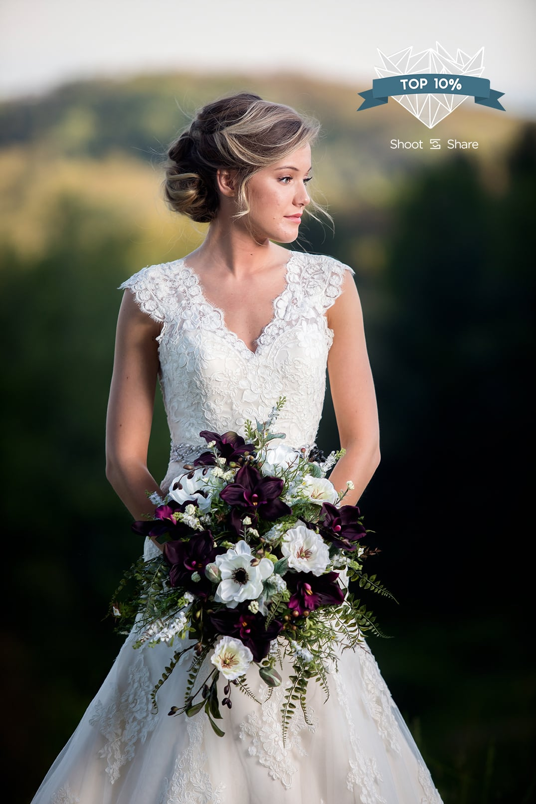 bridal portrait photography blowing rock nc