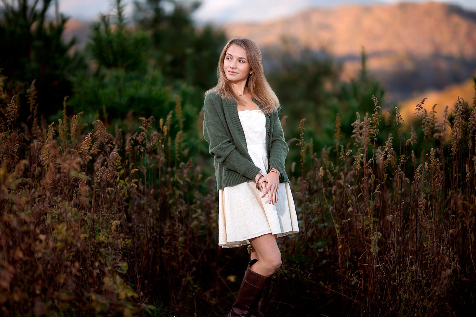 senior portrait session blue ridge parkway blowing rock nc