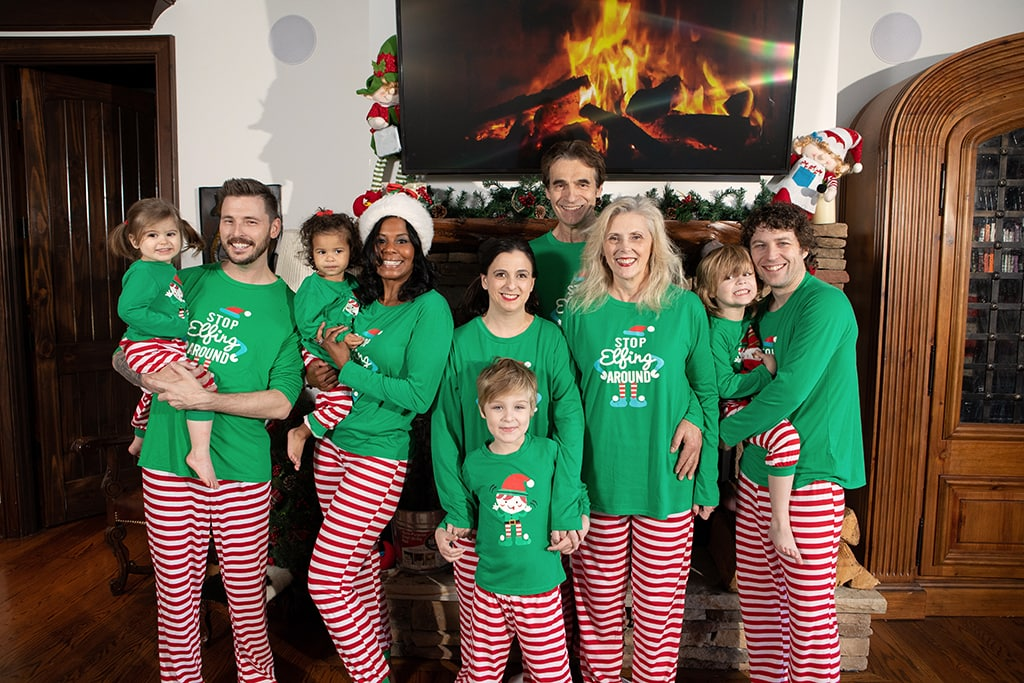 Christmas vacation family portraits pajamas sugar grove nc