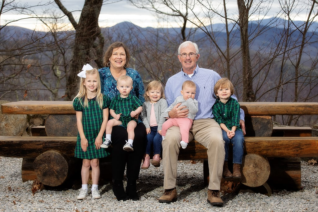 family portraits grandkids banner elk