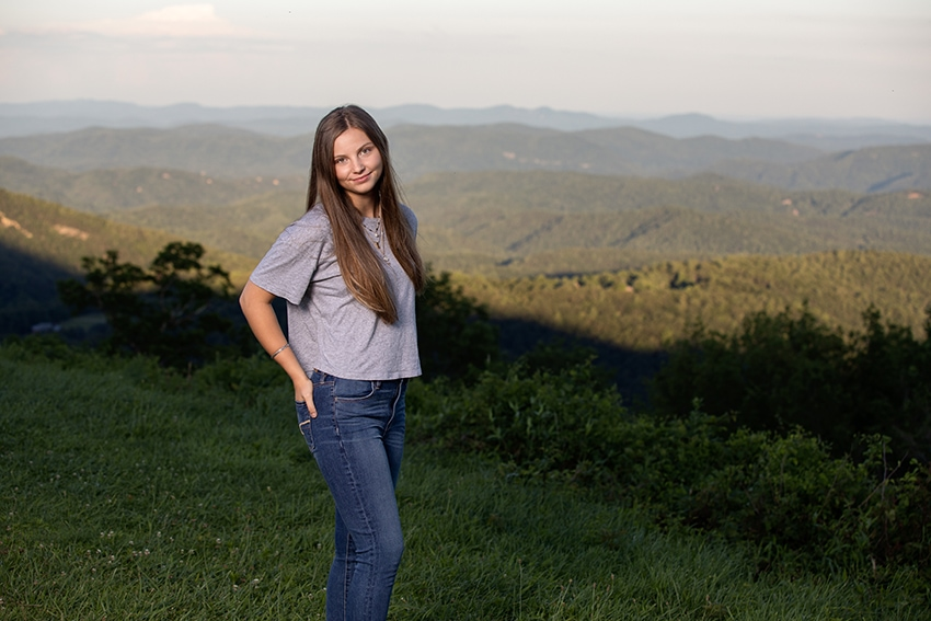 Senior portrait session blowing rock nc