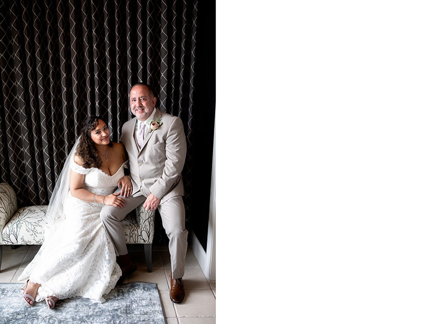 Bride and groom portraits at Kenmure Country Club