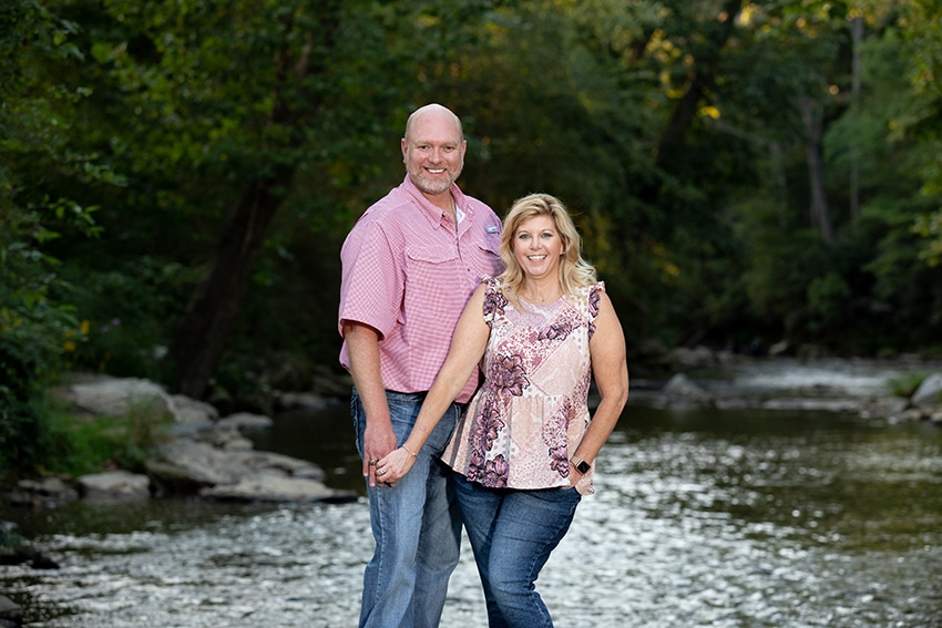 valle crucis portrait photography river